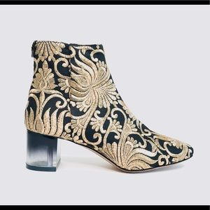 TORY BURCH Carlotta Embroidered Rococo Ankle Boot